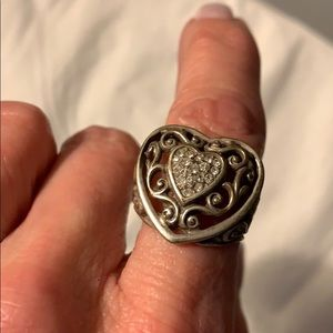 Brighton Heart Shaped Silver Ring